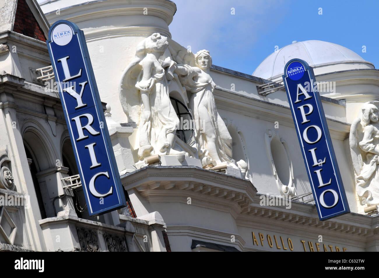 Lyric and Apollo Theatres, London, Britain, UK - Stock Image