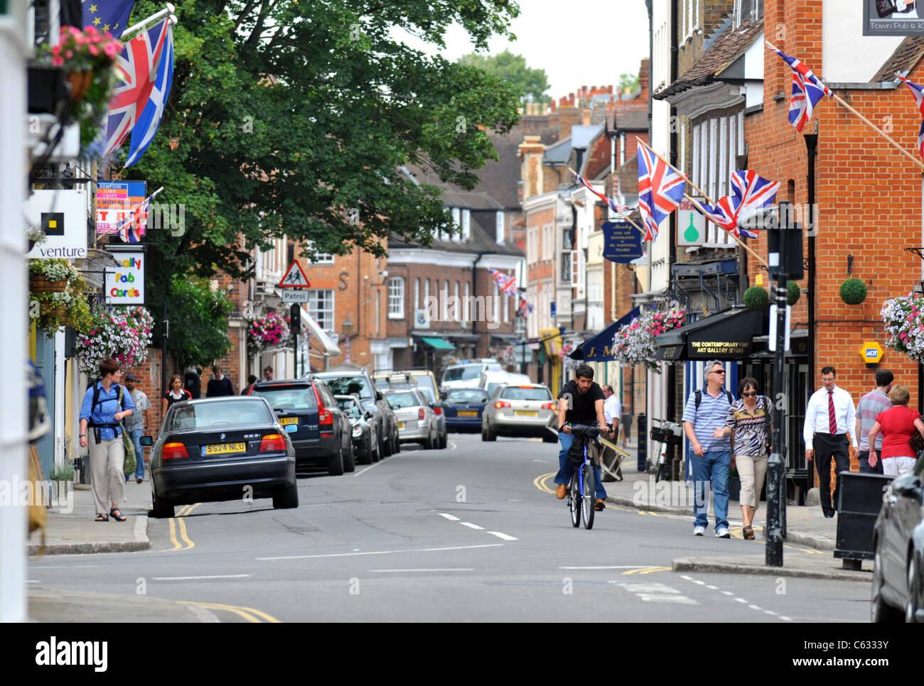 Eton High Street, Eton, Berkshire, Britain, UK - Stock Image