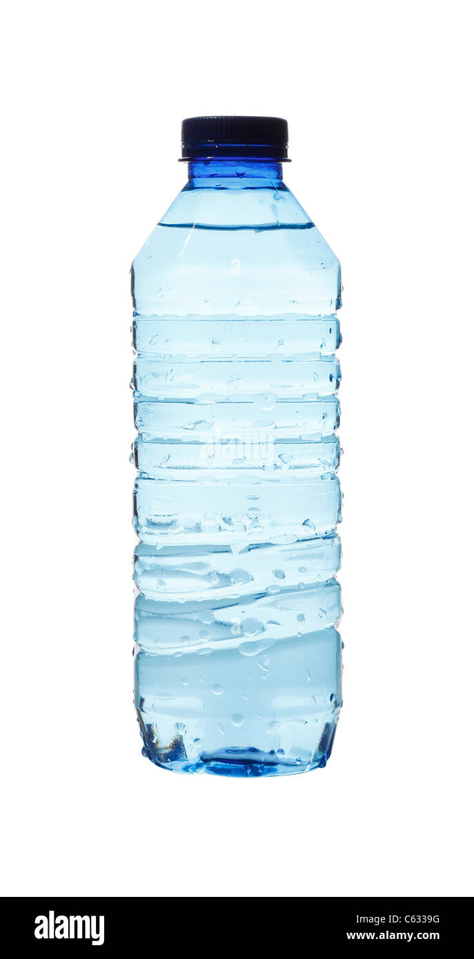 Water bottles isolated on white Stock Photo