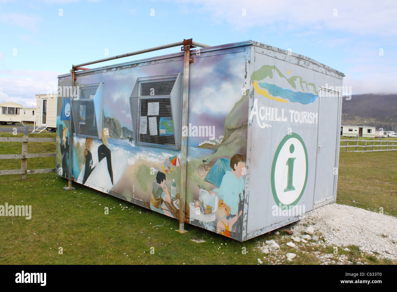 The Achill tourism office at Keel, Achill Island, Ireland - Stock Image