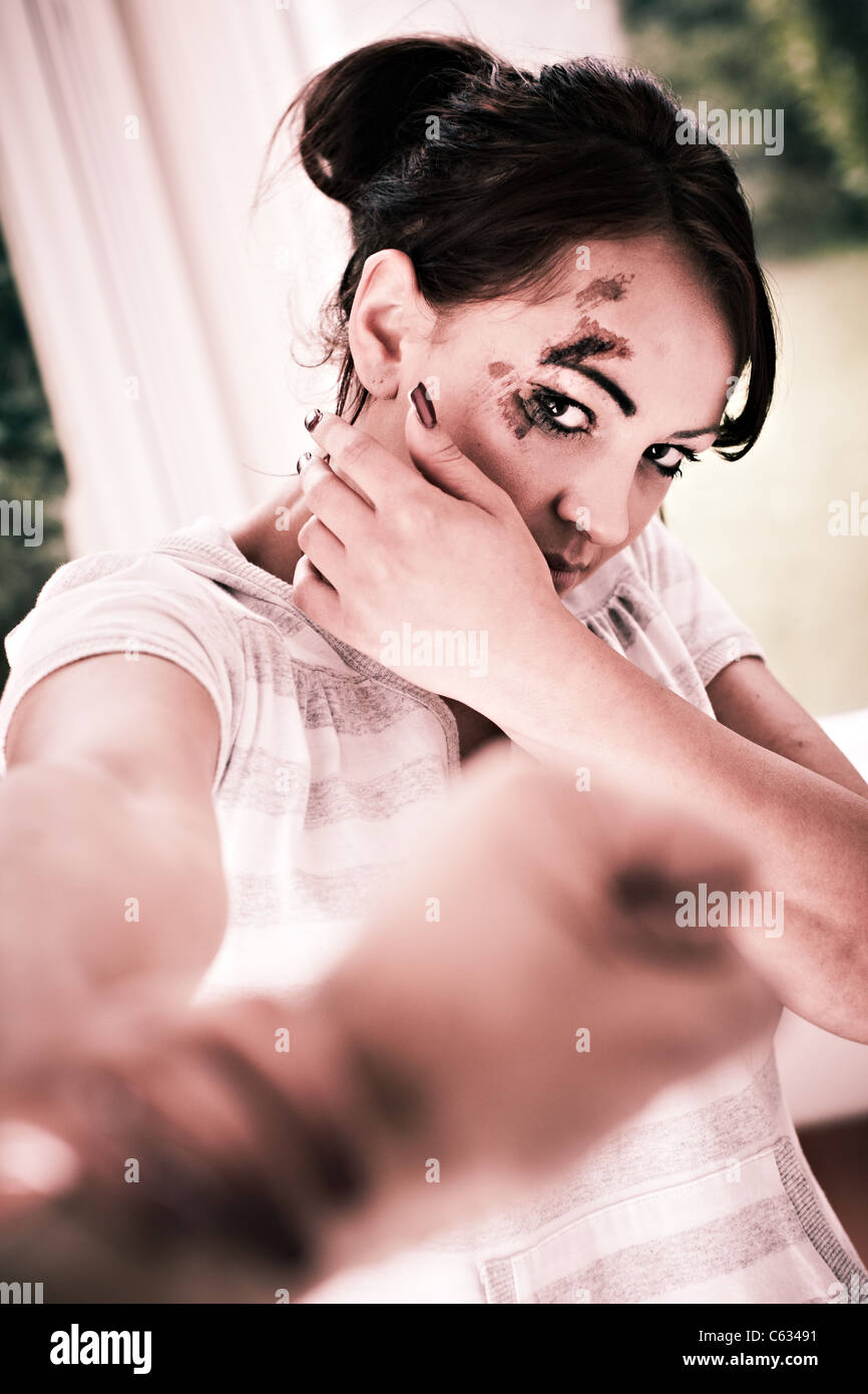 Abusive relationship - Stock Image