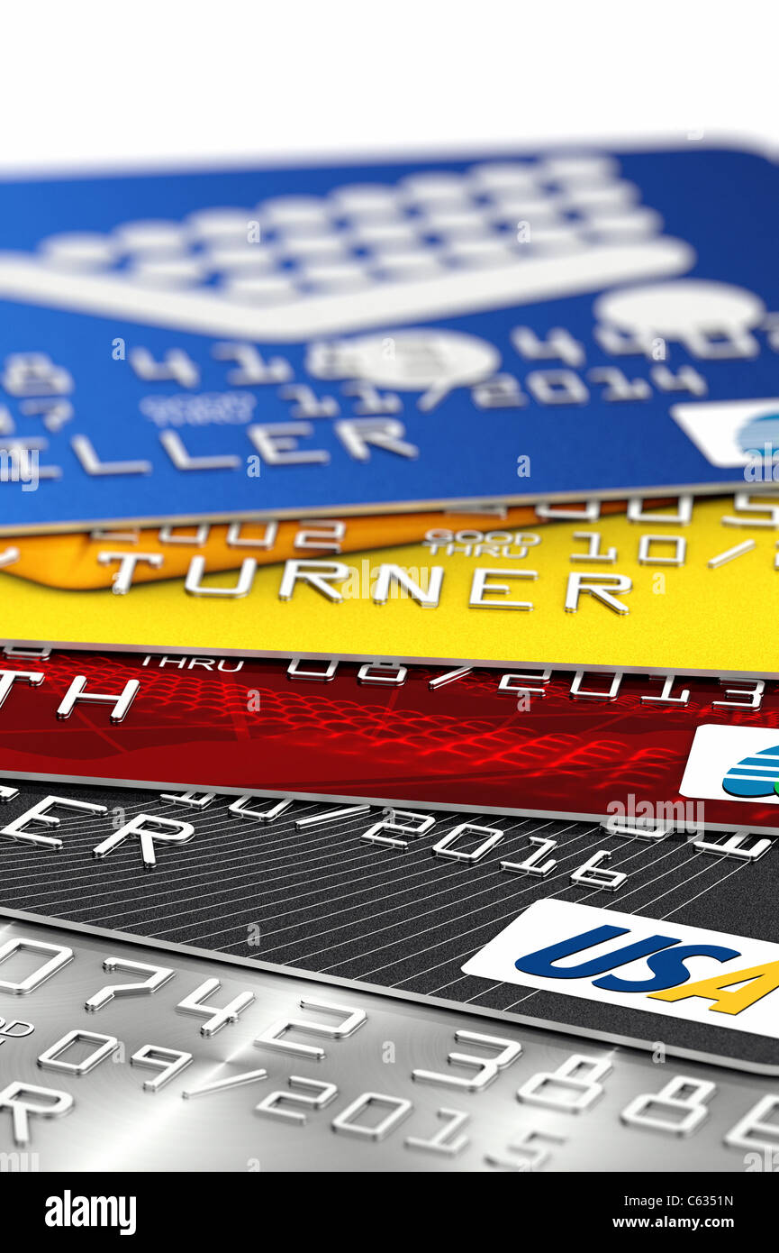 Fake credit cards - Stock Image