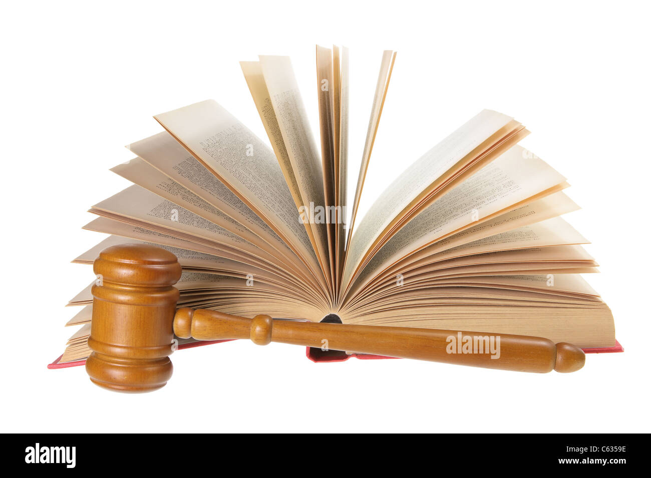 Gavel and Book - Stock Image