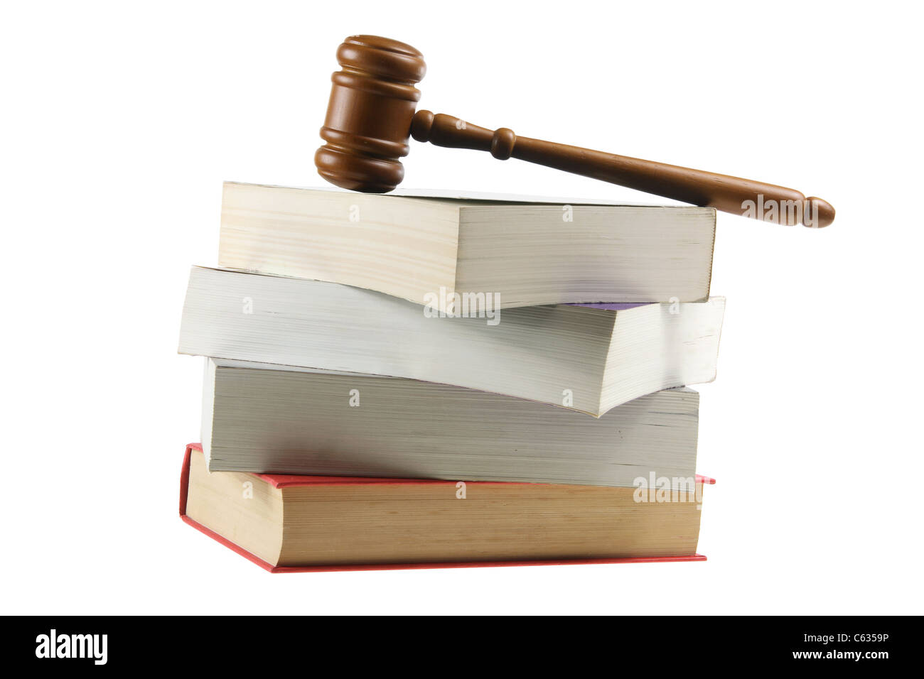 Gavel and Books - Stock Image