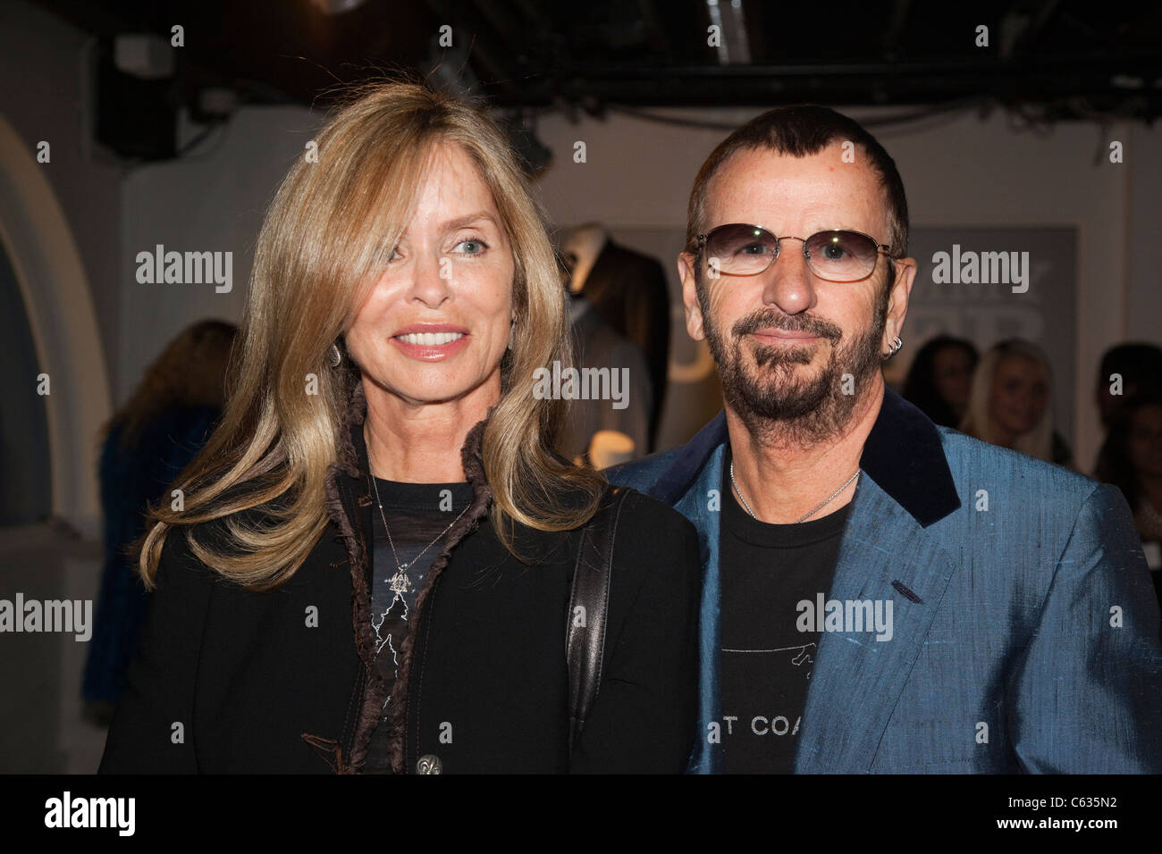 Actress Barbara Bach With Husband Ringo Starr At Opening Of Tommy Nutter Exhibition The Fashion And Textile Museum London
