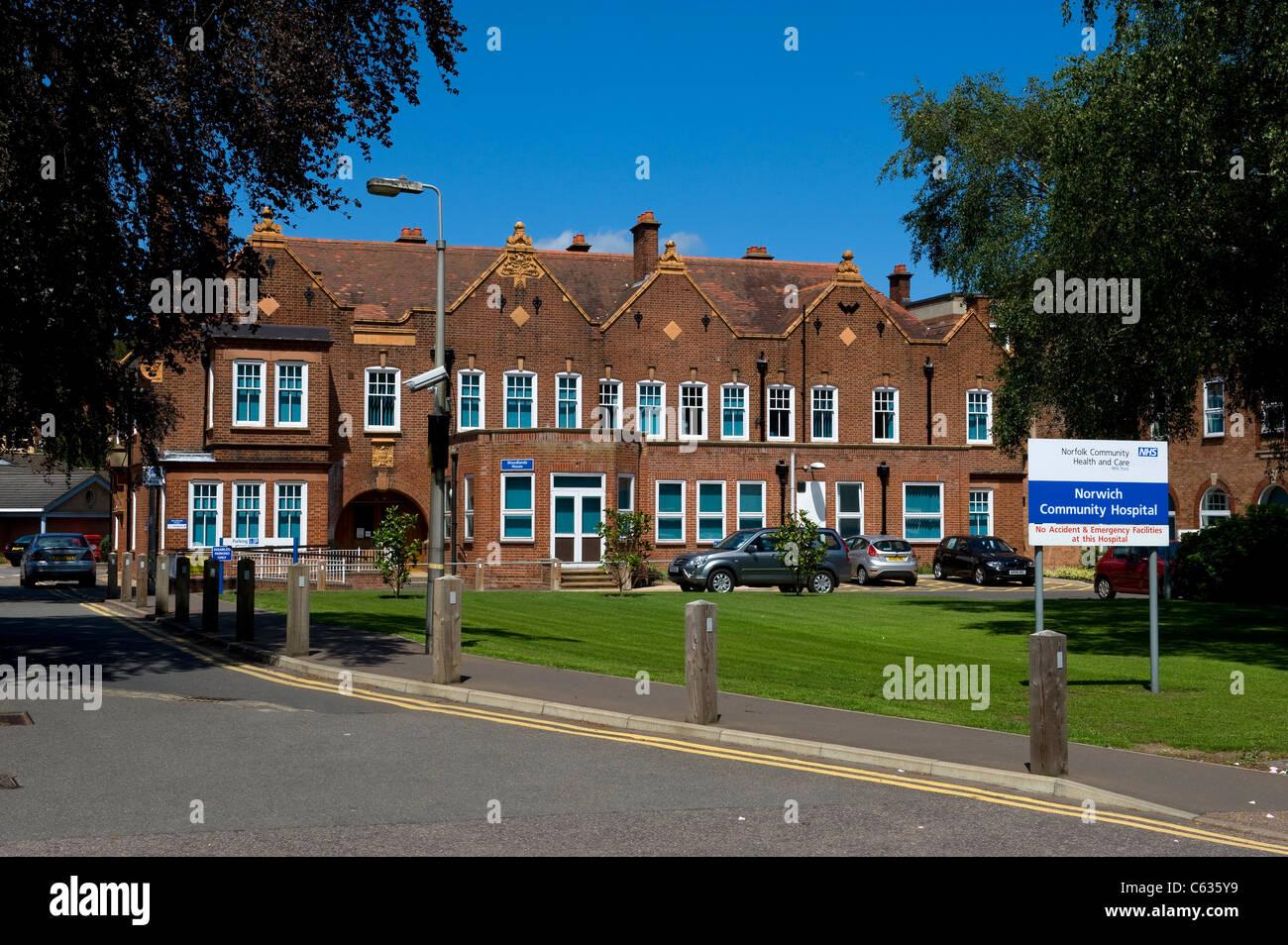 Norwich Community Hospital, Norwich, Norfolk, UK - Stock Image