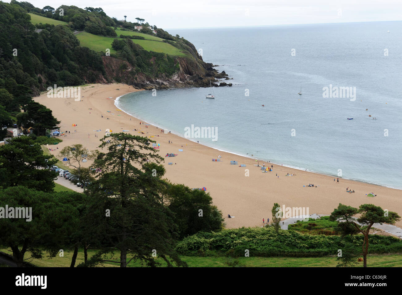 Blackpool Sands South Hams Devon - Stock Image
