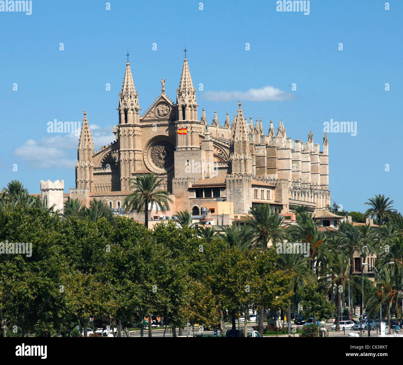 The Cathedral at Palma, in Majorca Spain - Stock Image
