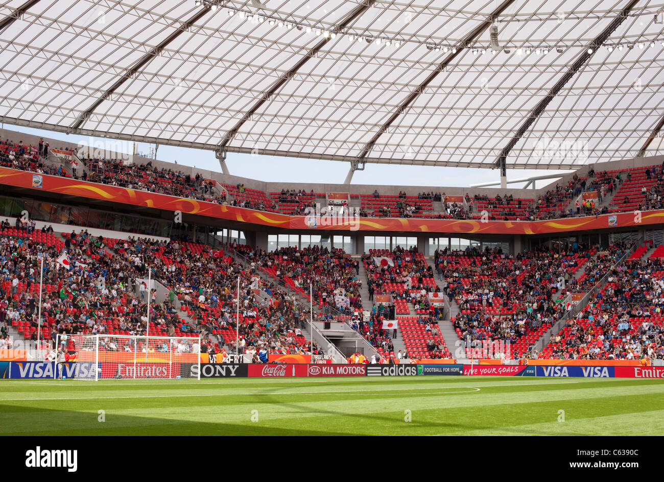 FIFA Women's World Cup Stadium in Leverkusen, Germany ahead of a Women's World Cup match between Japan and - Stock Image