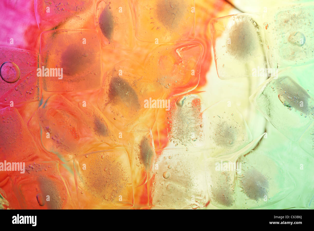 abstract colorful background with ice cube - Stock Image