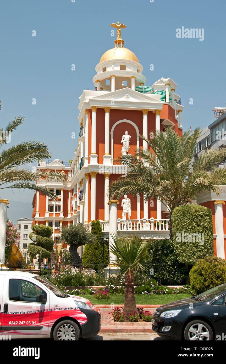 Alanya Town City Turkey Port Harbor Beach Sea - Stock Image