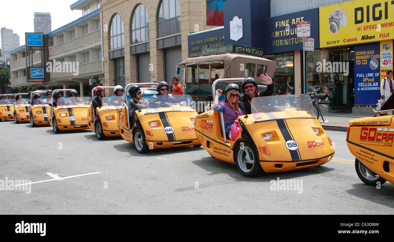 San Francisco Go cars, yet another way of showing tourists around the city - Stock Image