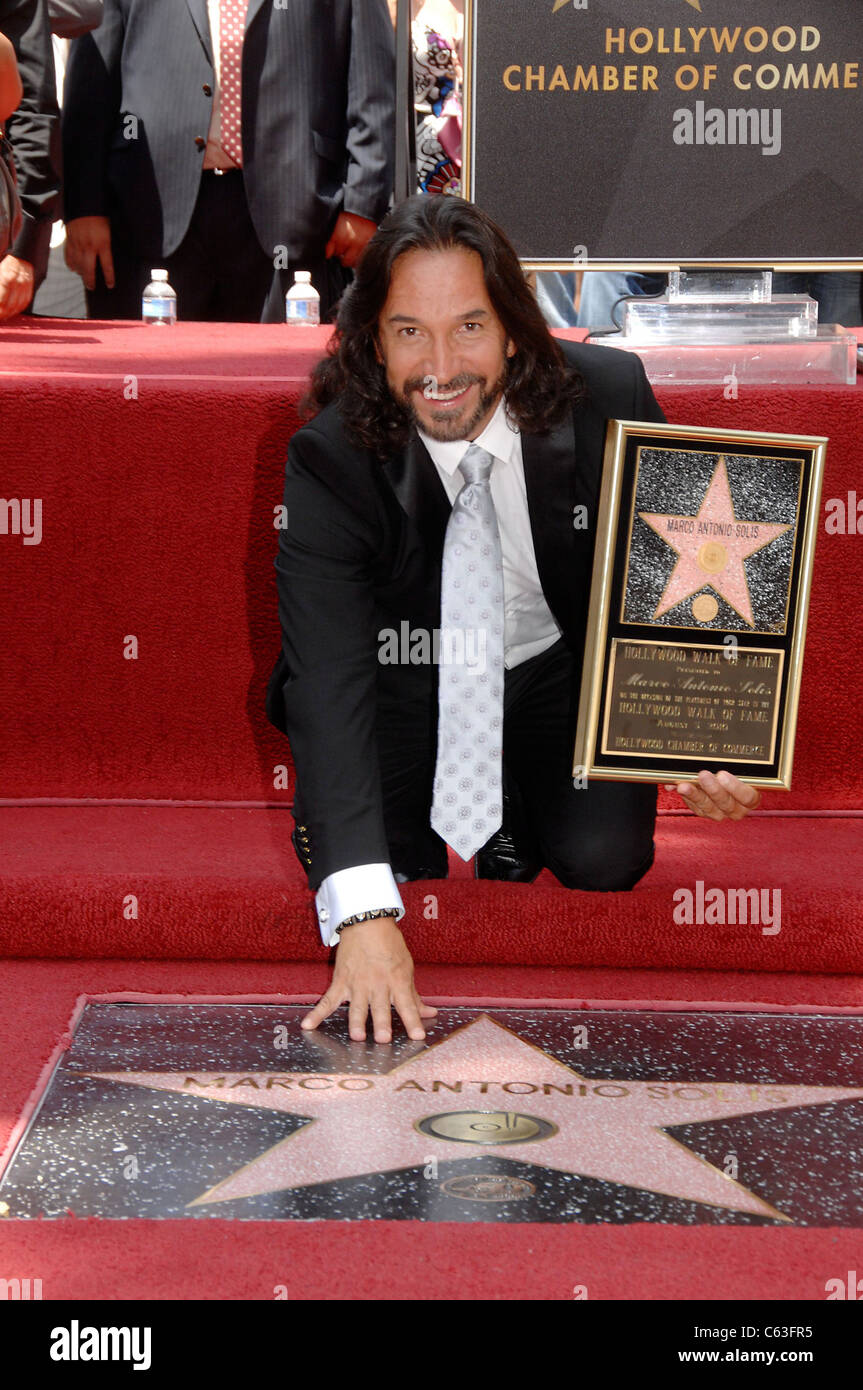 Marco Antonio Solis at the induction ceremony for Star on the Stock ...