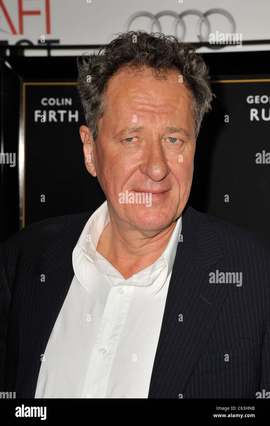 Geoffrey Rush at arrivals for AFI FEST 2010 Screening of THE KING'S SPEECH, Grauman's Chinese Theatre, Los - Stock Image