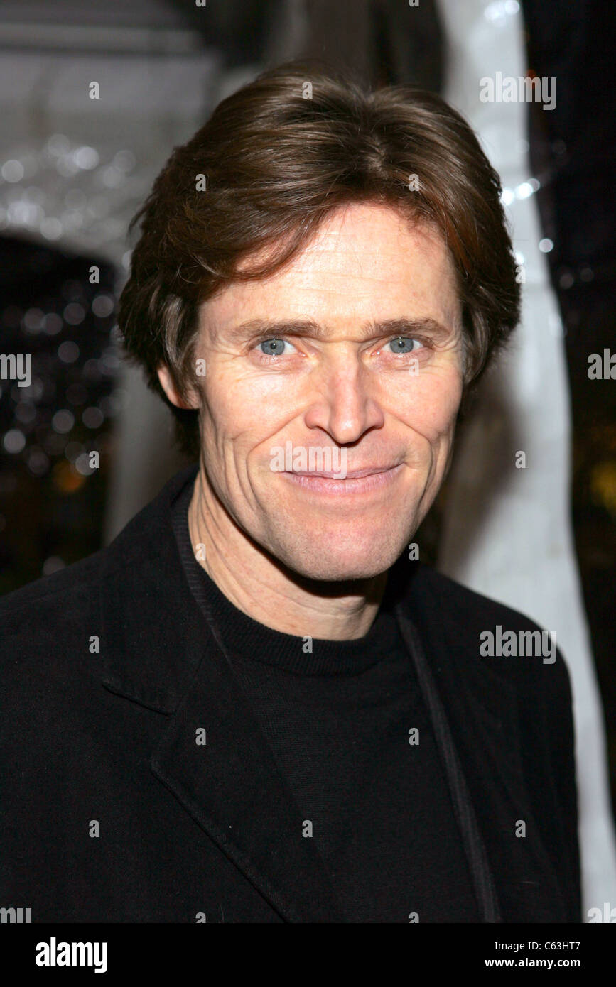 Willem Dafoe at the premiere of THE AVIATOR at the Ziegfeld Theatre, NY, December 14, 2004. (photo: gbinuya/Everett - Stock Image