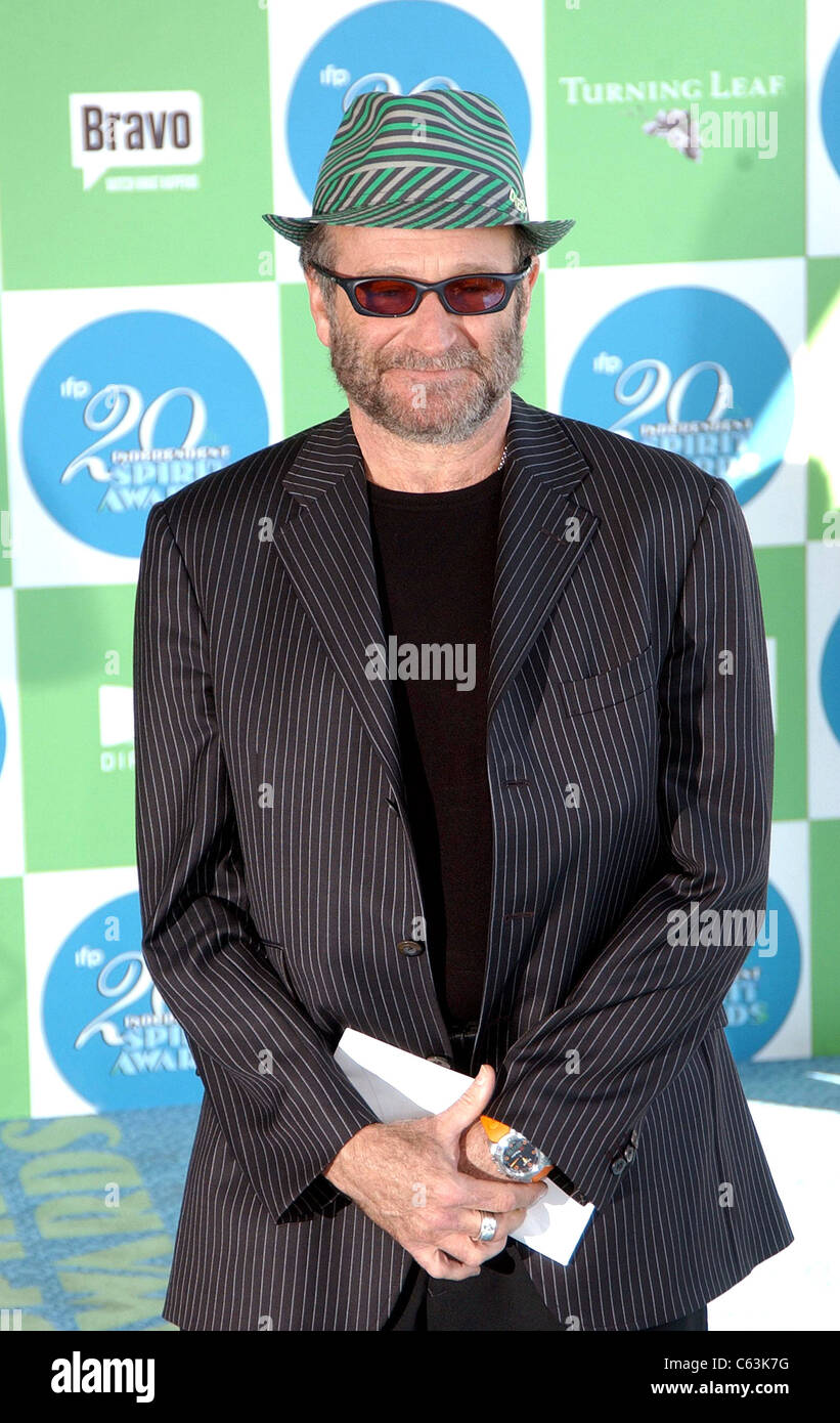 Robin Williams at arrivals for 20th IFP Independent Spirit Awards, Los Angeles, CA, Saturday, February 26, 2005. - Stock Image