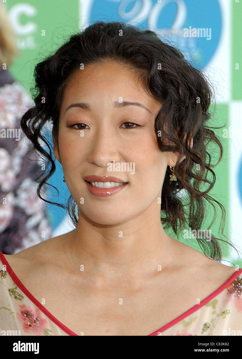 Sandra Oh at arrivals for 20th IFP Independent Spirit Awards, Los Angeles, CA, Saturday, February 26, 2005. Photo Stock Photo