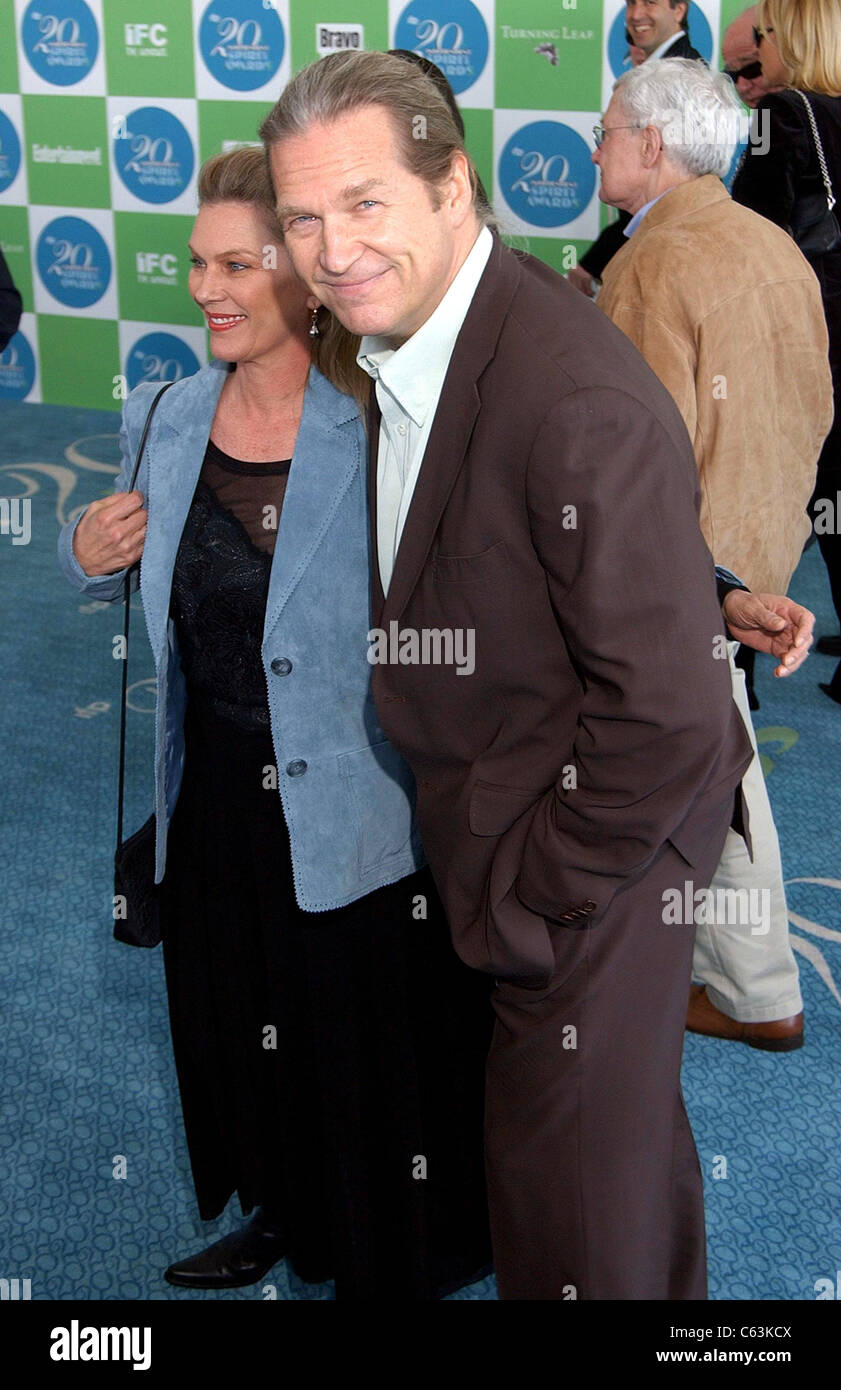 Susan Geston, Jeff Bridges at arrivals for 20th IFP Independent Spirit Awards, Los Angeles, CA, Saturday, February - Stock Image