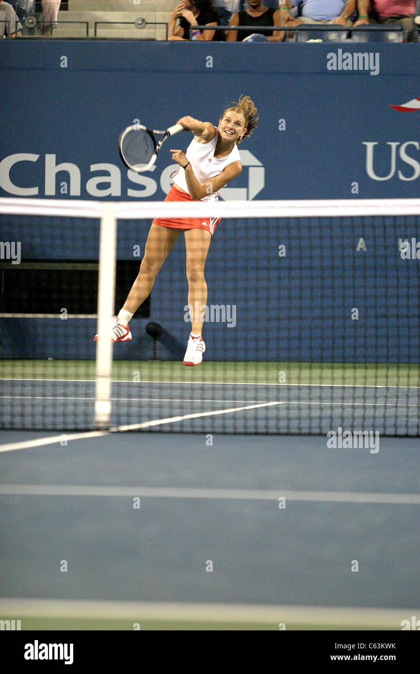 Sesil Karatantchev inside for U.S. Open Tennis Tournament, Arthur Ashe Stadium, Flushing, NY, September 01, 2005. - Stock Image
