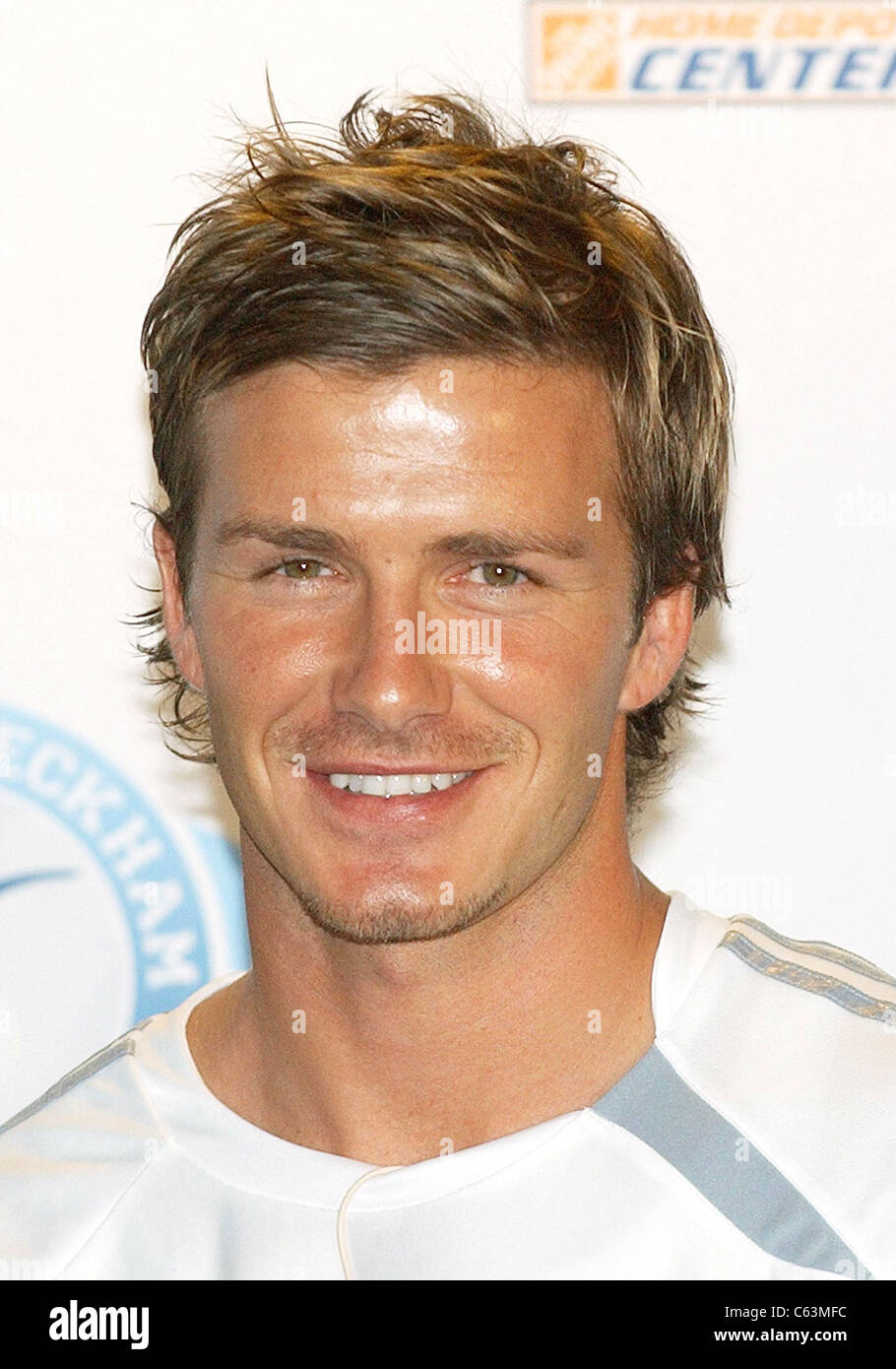 David Beckham at the press conference for David Beckham Launches Home Depot Soccer Academy, The Home Depot Center - Stock Image