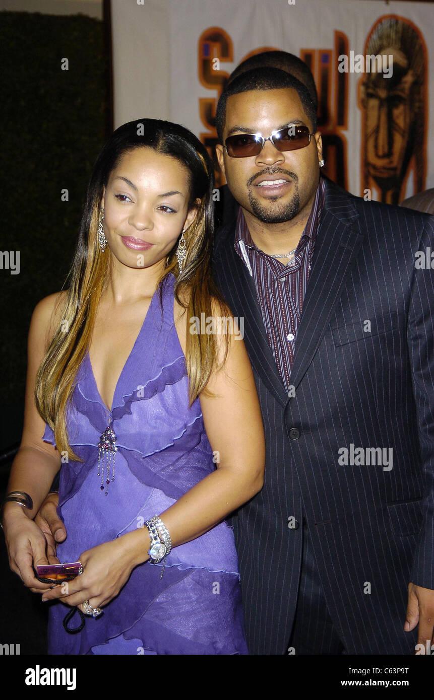 Kim Jackson, Ice Cube at arrivals for 2005 Soul Train Music Awards, Paramount Studios, Los Angeles, CA, February - Stock Image