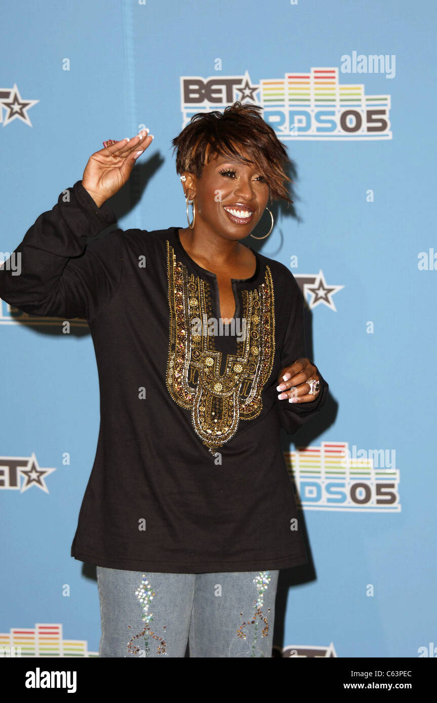 Missy Elliott in the press room for BET Awards 2005, The Kodak Theatre, Los Angeles, CA, June 28, 2005. Photo by: - Stock Image