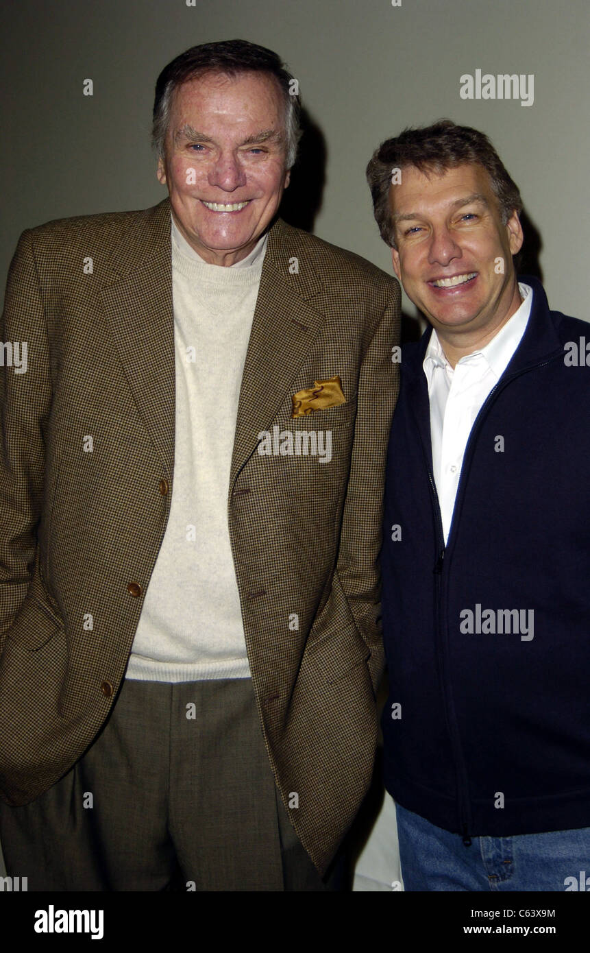 Peter Marshall and Marc Summers at a ceremony honoring Soupy Sales with a Star on the Hollywood Walk of Fame, January - Stock Image