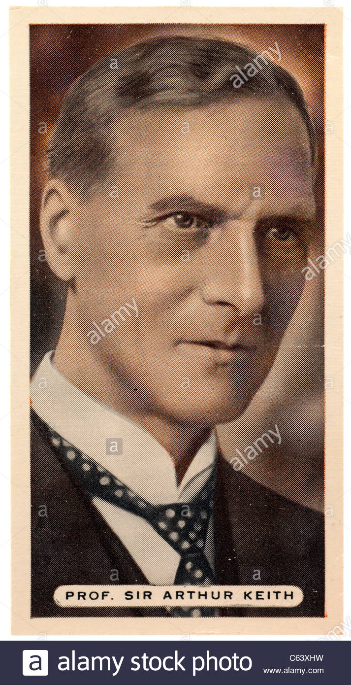 Sir Arthur Keith  1866 to 1955, Scottish anatomist and anthropologist. EDITORIAL ONLY - Stock Image