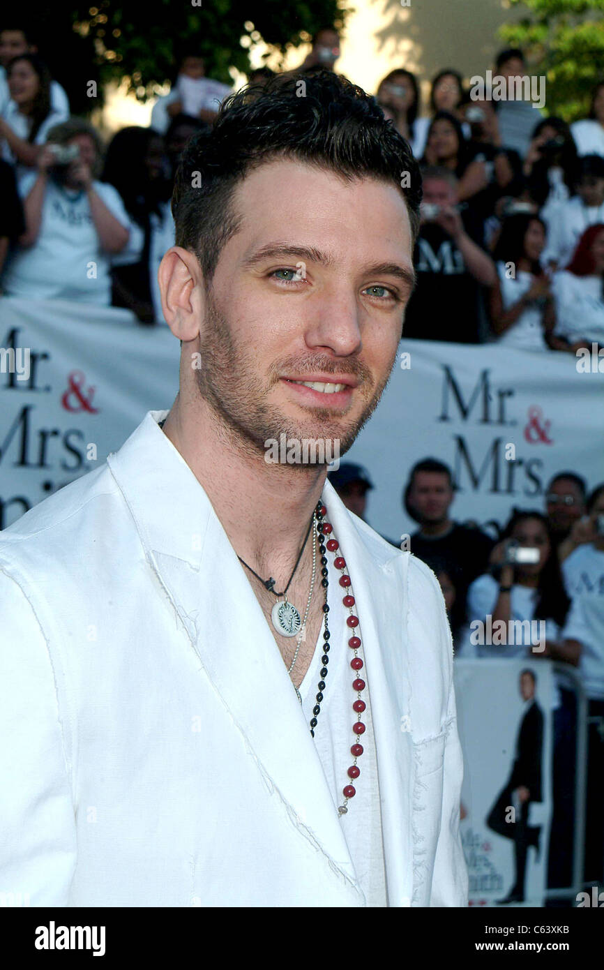 J.C. Chasez at arrivals for MR.& MRS. SMITH premiere, Mann Village Theater, Los Angeles, CA, June 07, 2005. - Stock Image