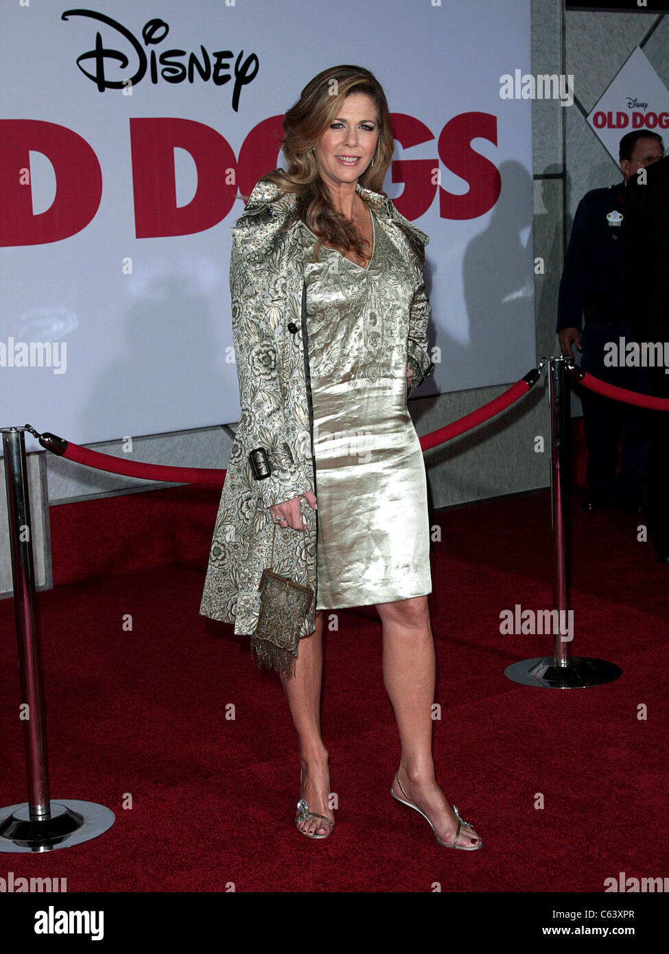 Rita WIlson (wearing a Burberry Prorsum coat) t arrivals for OLD DOGS World Premiere, El Capitan Theatre, Los Angeles, - Stock Image