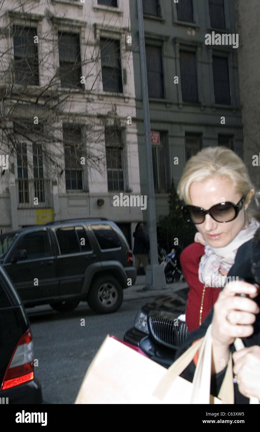 Joely Richardson arrives at Lenox Hill Hospital in New York