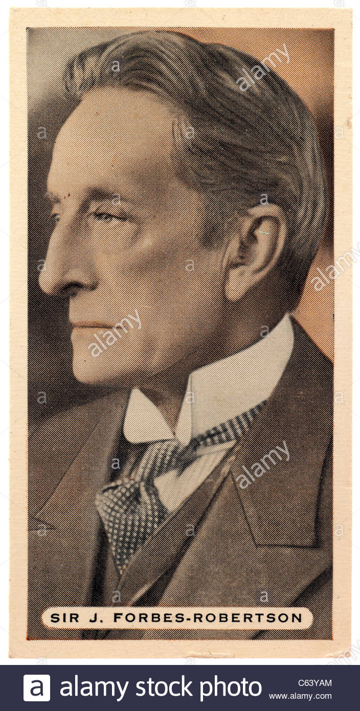 Sir Johnston Forbes-Robertson 1853  to 1937, was an English actor and theatre manager. EDITORIAL ONLY - Stock Image