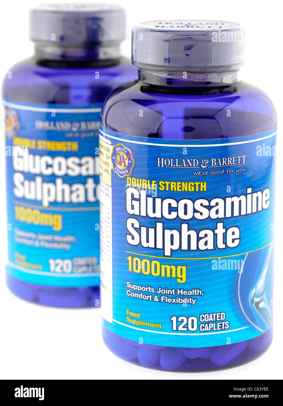 Two bottles of 120 each Holland and Barrett double strength