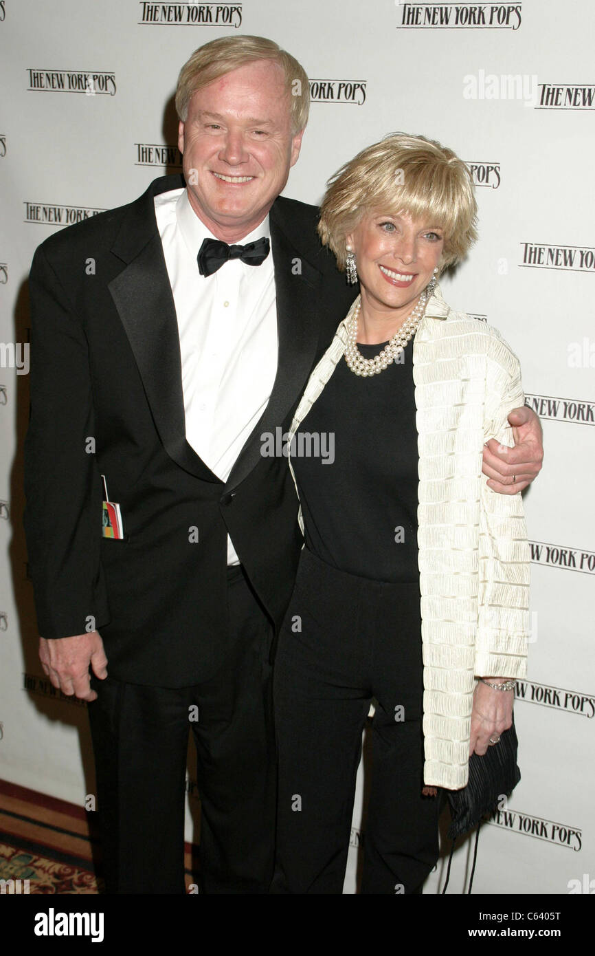 Chris Matthews, Lesley Stahl at  New York Pops 2x2 22nd Birthday Gala Benefit, Carnegie Hall, New York, NY, May - Stock Image