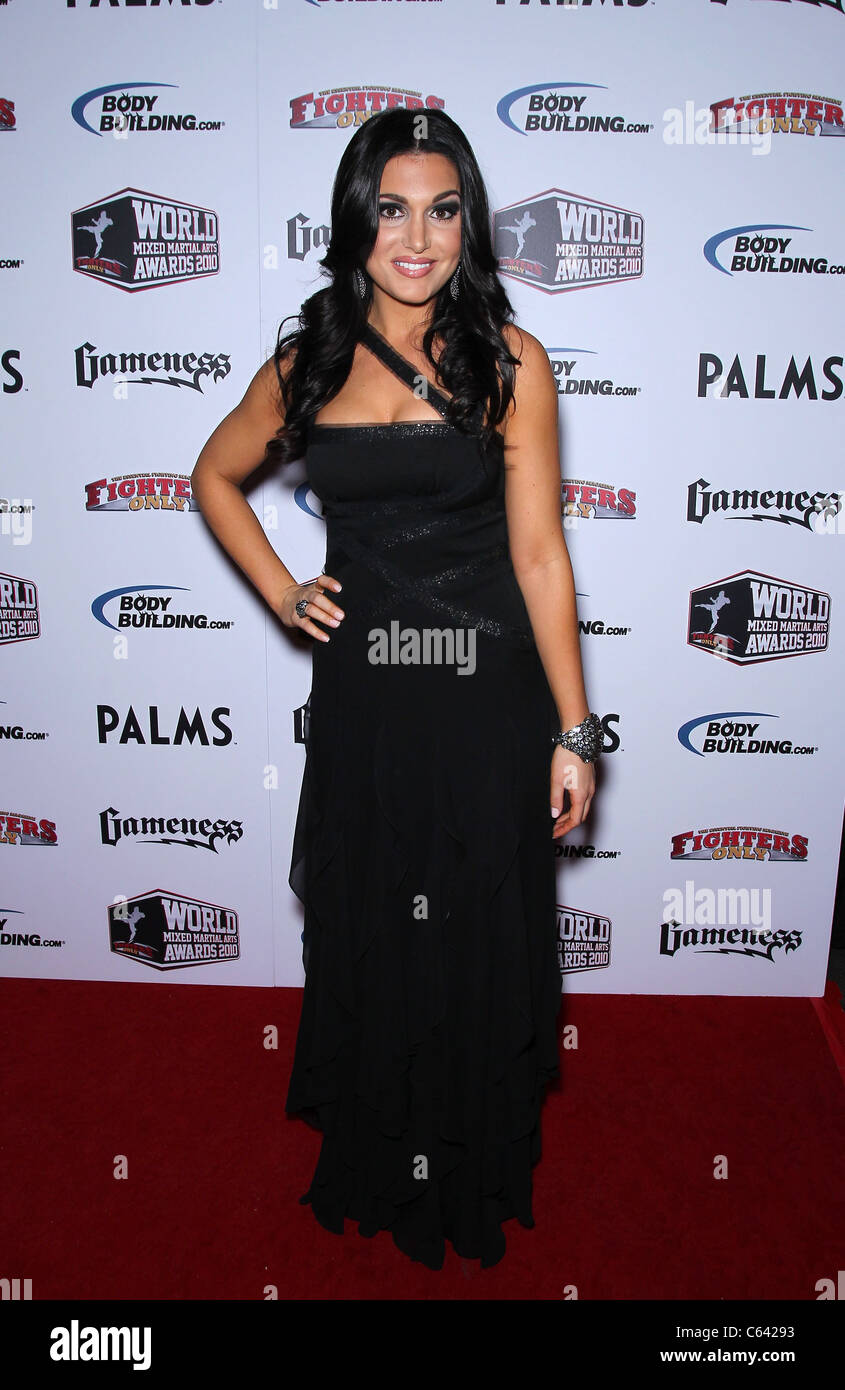 molly qerim in attendance for 3rd annual fighters only mixed martial