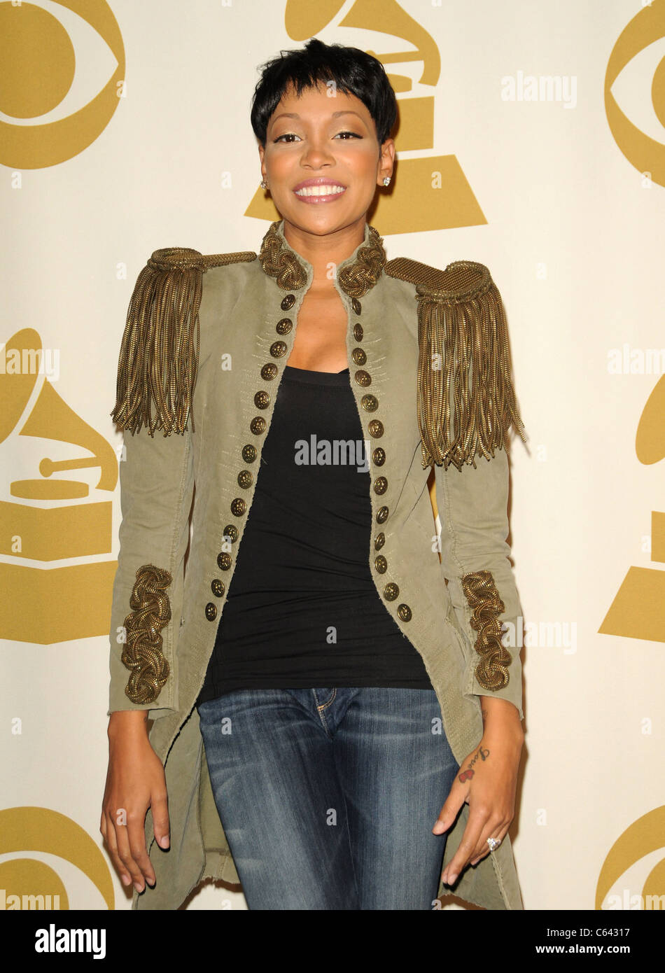 Monica in attendance for The GRAMMY Nominations Concert, Club Nokia, Los Angeles, CA December 1, 2010. Photo By: - Stock Image