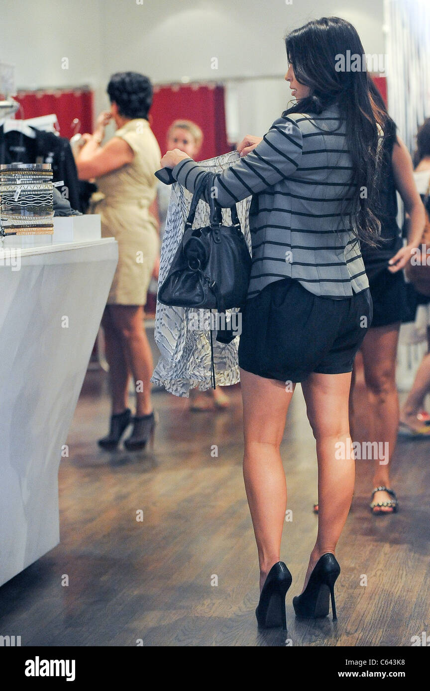 Kris Jenner, Kim Kardashian, shop in Intermix Soho out and about for CELEBRITY CANDIDS - THURSDAY, , New York, NY - Stock Image