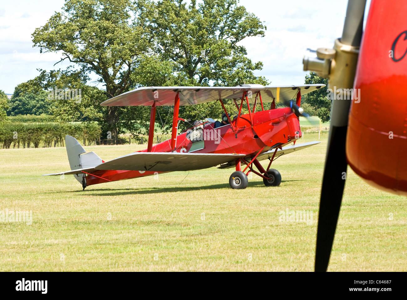 Tiger Moth bi-plane - Stock Image