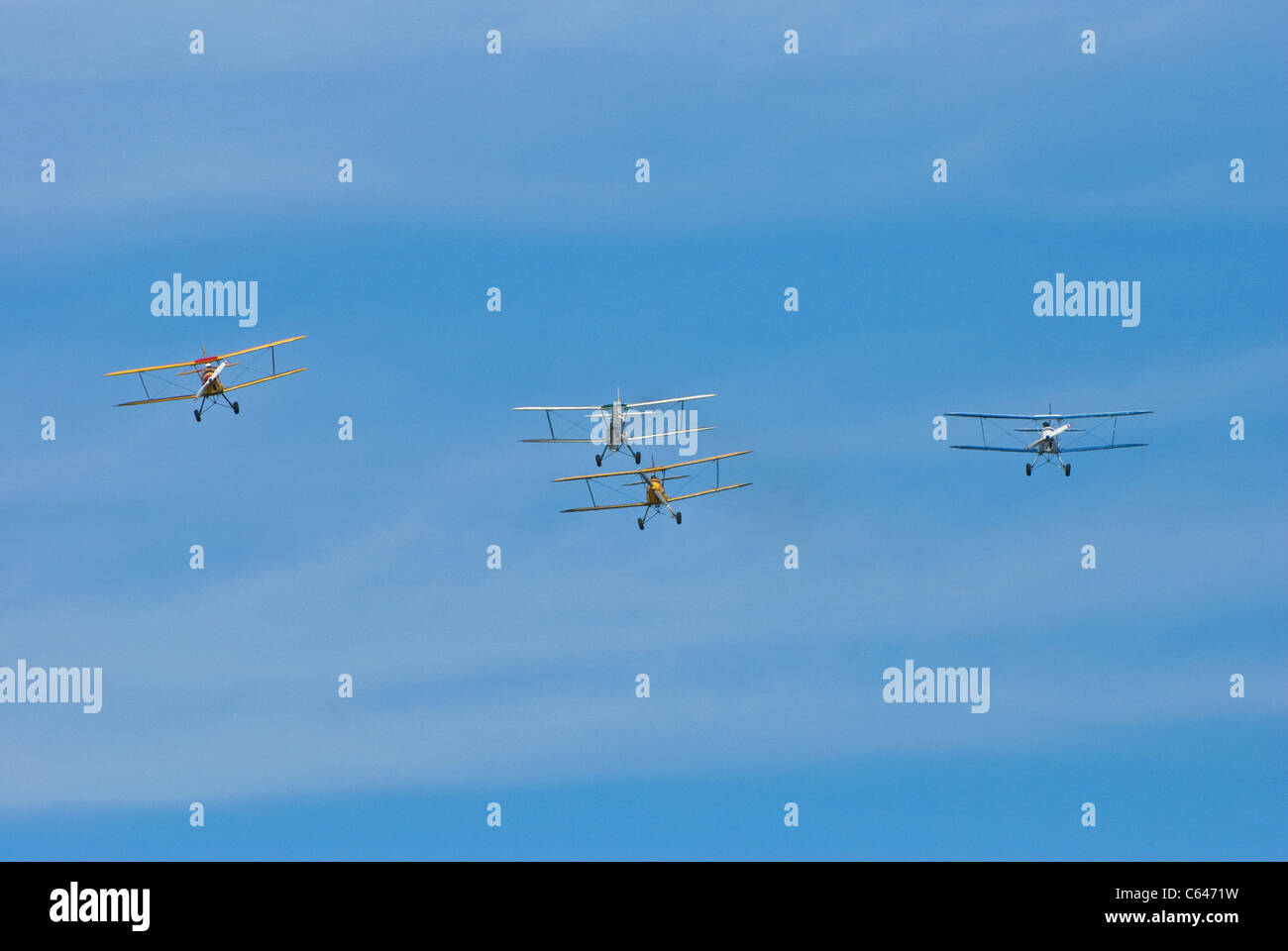 Four Stampe bi-planes - Stock Image