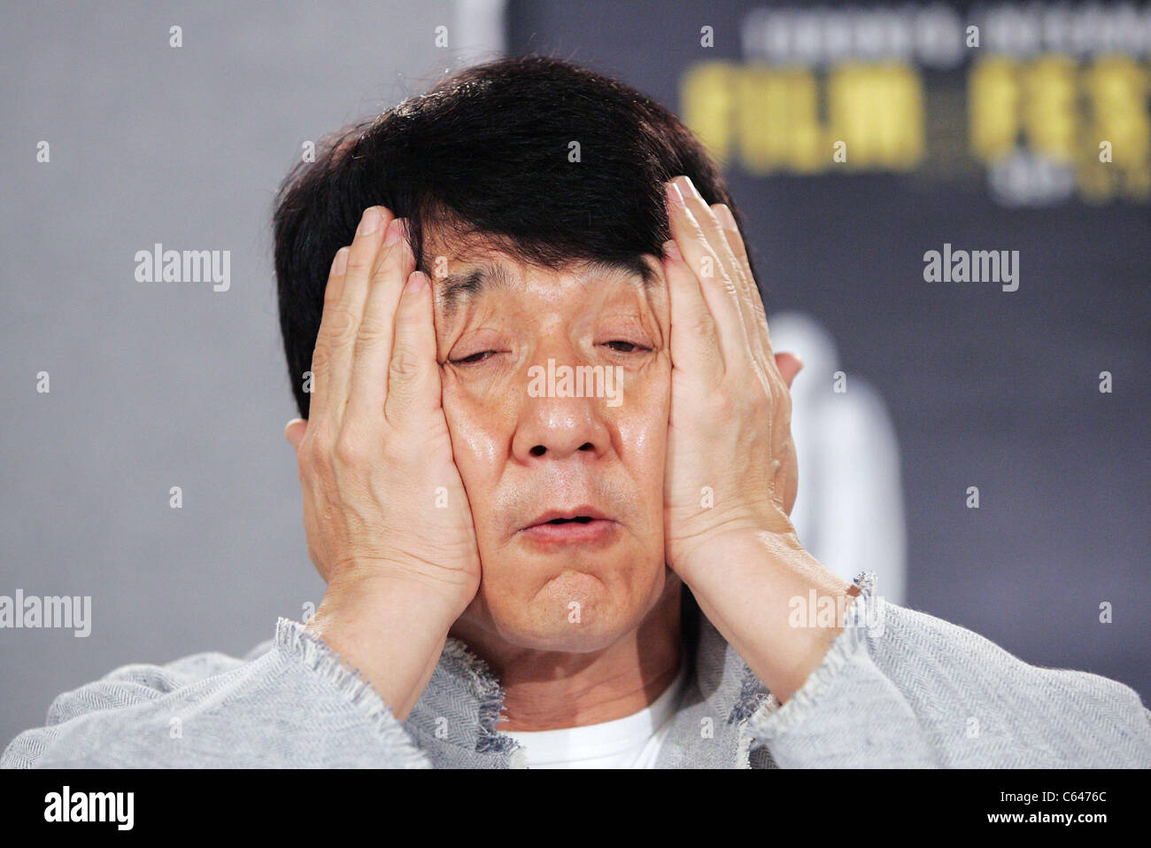 Jackie Chan at the press conference for THE MYTH Premiere at Toronto Film Festival, Sutton Place Hotel, Toronto, - Stock Image