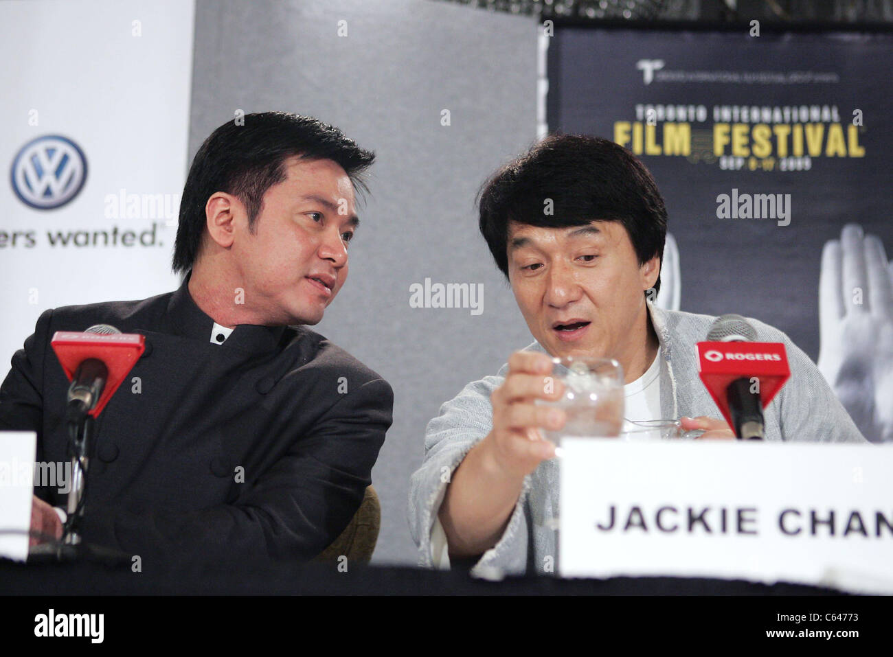 Stanley Tong, Jackie Chan at the press conference for THE MYTH Premiere at Toronto Film Festival, Sutton Place Hotel, - Stock Image