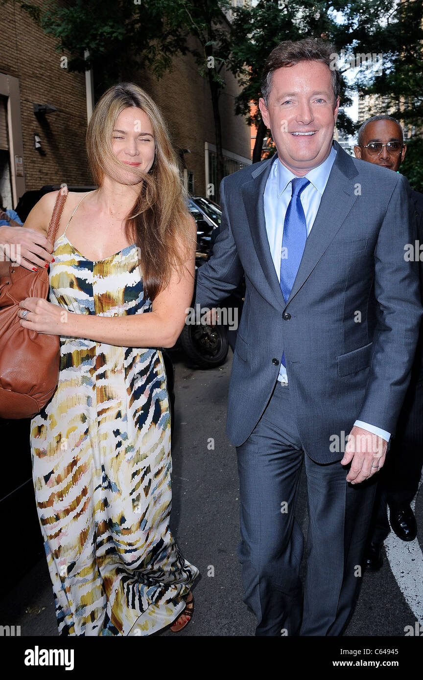 Celia Walden, television personality Piers Morgan, visit 'Live With Regis And Kelly' taping at the ABC Lincoln - Stock Image
