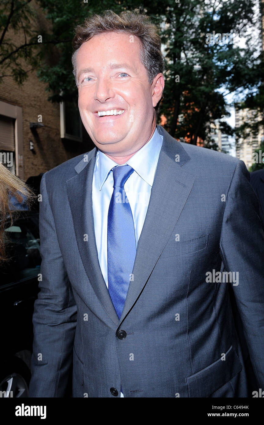 Television personality Piers Morgan, visits 'Live With Regis And Kelly' taping at the ABC Lincoln Center - Stock Image