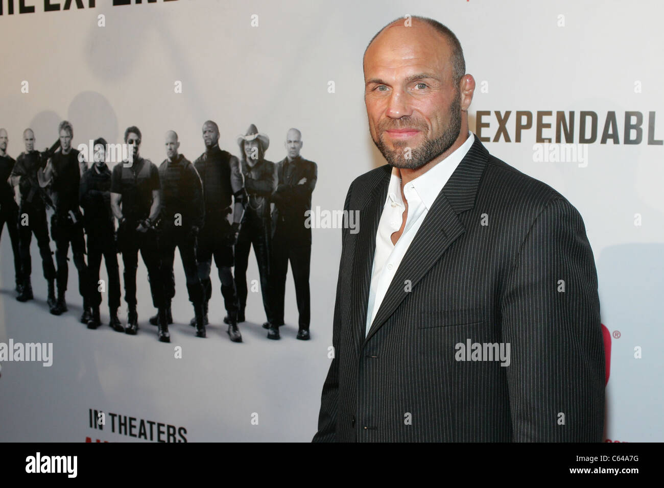 Randy Couture at arrivals for THE EXPENDABLES Premiere, Planet Hollywood Resort and Casino, Las Vegas, NV August Stock Photo