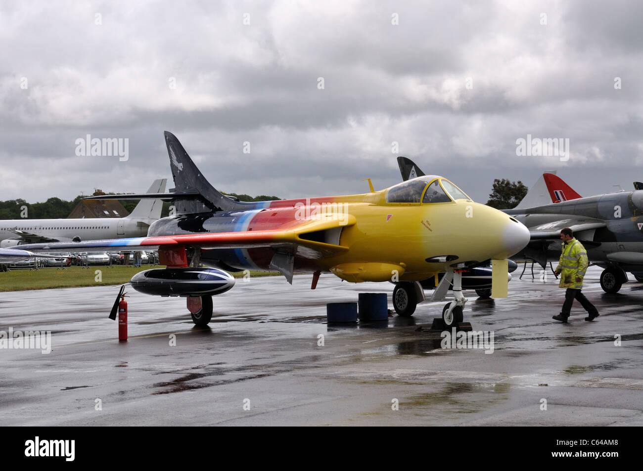 Hawker Hunter 'Miss Demeanour' G-PSST Stock Photo