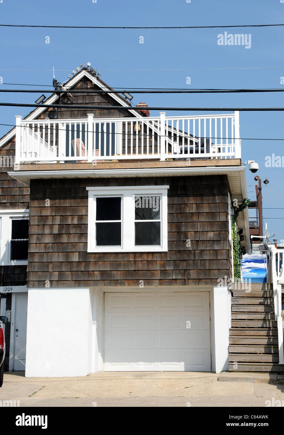 MTV Reality Show 'Jersey Shore' where cast members stay in Seaside Heights, NJ out and about for JERSEY - Stock Image
