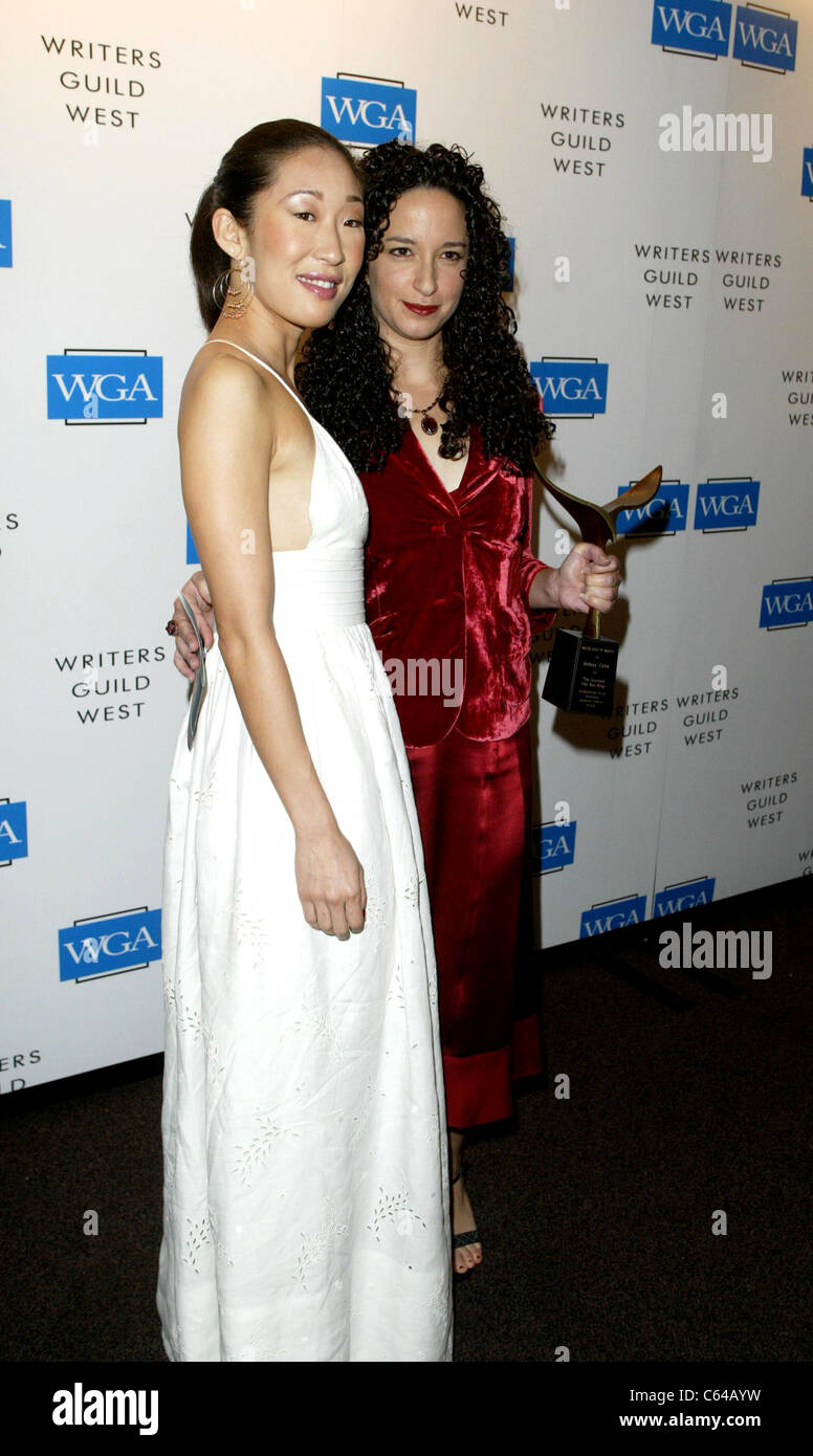Sandra Oh, Debra Cahn in the press room for The 2005 Writers Guild Awards, Hollywood Palladium, Los Angeles, CA, - Stock Image