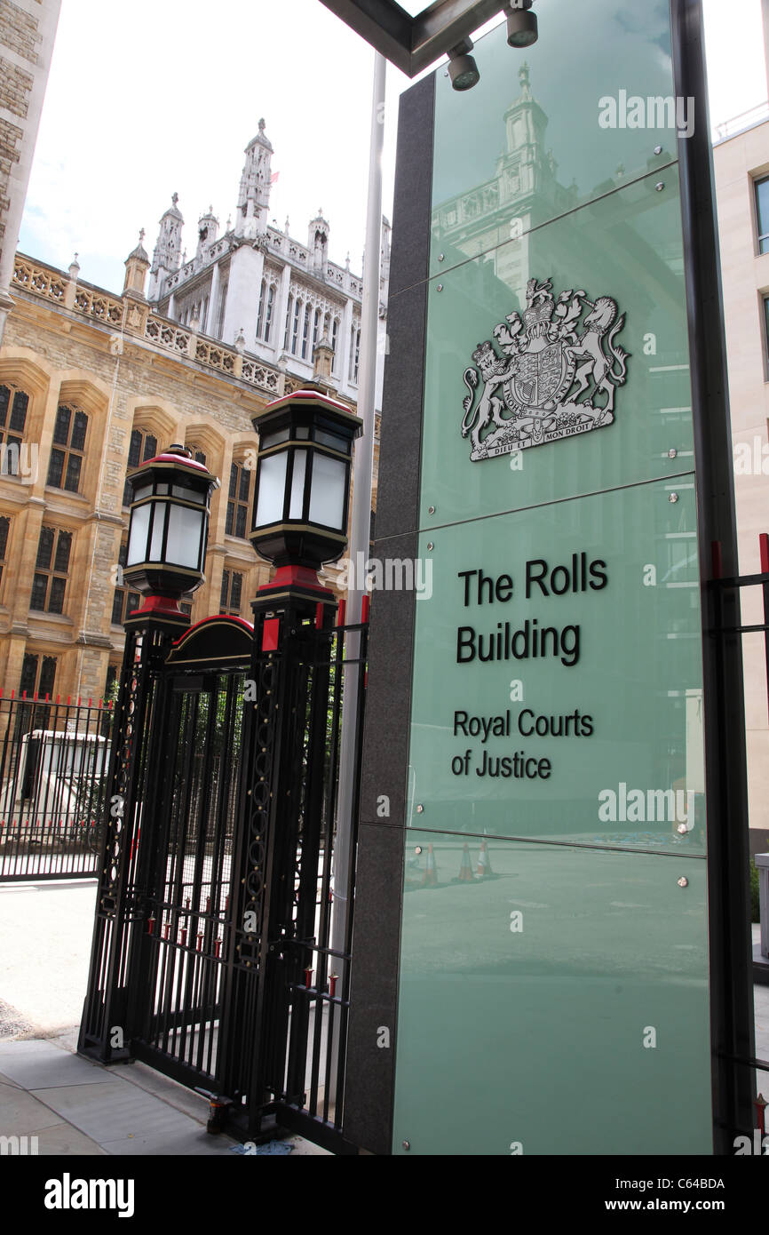 The Rolls Building, the largest specialist centre for the resolution of financial, business and property litigation. - Stock Image