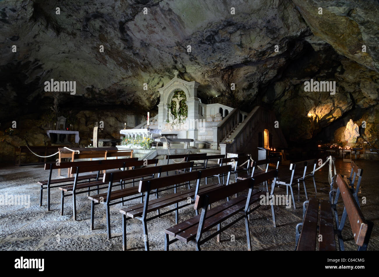 Mary Magdalene Holy Cave, Shrine or Grotto, Sainte-Baume Massif or Sainte Baume, Provence, France - Stock Image