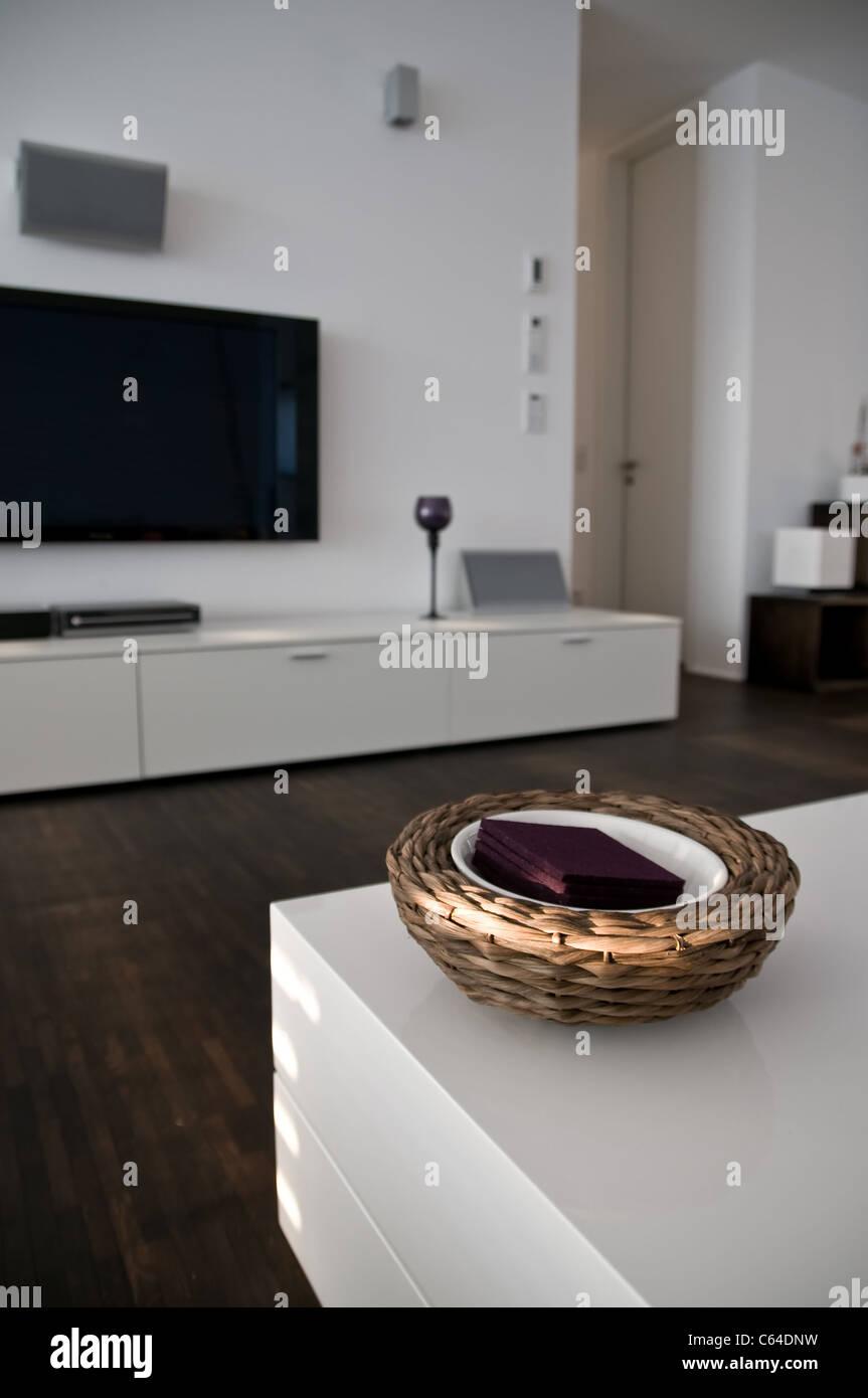 Innenaufnahme eines modernen Wohnzimmers - Stock Image